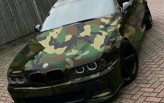 Camo Wrapped Bmw E39